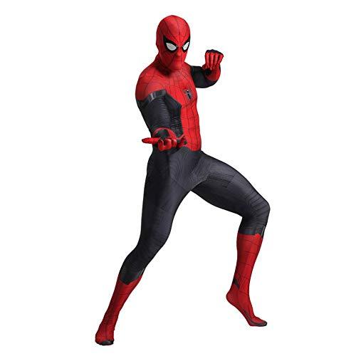 SDFXCV Spiderman Far from Home Kostüm Für Erwachsene Rollenspiele Neutral Lycra Spandex Strumpfhose Halloween Rollenspiel Kostüm 3D Style (Geeignet Für Größe 100cm-185cm),Kids-L(Height51-54Inch) (Home Kostüm Für Erwachsene)