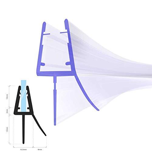 STEIGNER Duschdichtung, 80cm, Glasstärke 3,5/4/ 5 mm, Gebogene PVC Ersatzdichtung für Runddusche, UK13