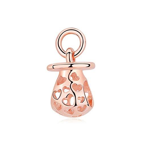 WERZ Perlen Sterling Silber Perlen Anhänger Spacer Clip Charm Anhänger Für Pandora Armbänder Weibliche Diy SchmuckHarmonische Herzen 1