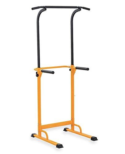 Barra de tracción o estación musculación ajustable, amarillo