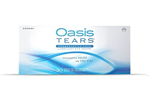 Oasis TEARS Original Lubricant Eye Drops Relief For Dry Eyes, One 30 Count Box Sterile Disposable Containers by Oasis