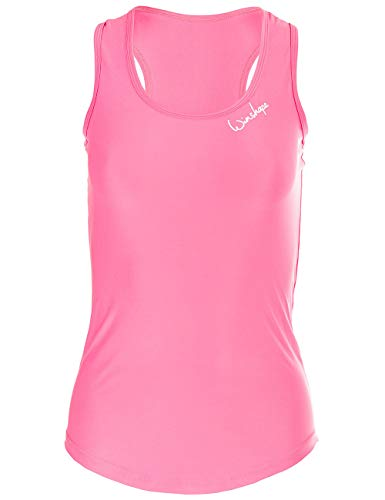 Winshape Damen Super leichtes Functional Tanktop AET104, Slim Style Fitness Yoga Pilates, neon-pink, M - Pink-power-racer