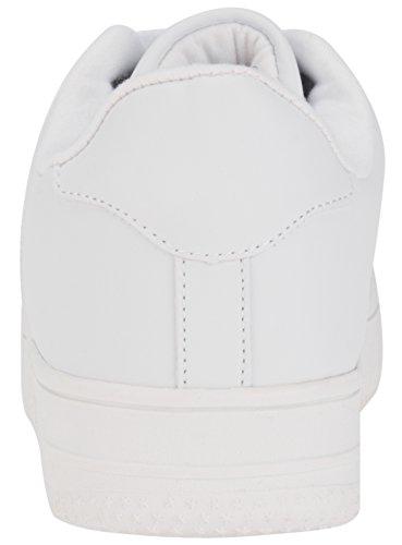 oodji Ultra Donna Sneakers in Pelle Sintetica con Suola Alta Bianco (1000N)