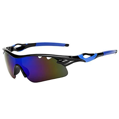 HUIHUAN Radfahren Brille Fahrer Fahren Sonnenbrille Sonnenbrille Flut Menschen Reiten Explosionsgeschützte Brille Nachtsicht Spiegel Sport Spiegel,Blue