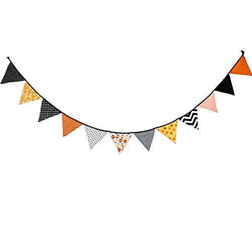 koration,10,5 Fuß Dreieck Flagge Banner Bunting Wimpel Für Kinder Tipi Zelt, Party Und Raumdekoration, 12 Stück Doppelseitige Baumwolle Stoff Flagge Von Steegic,Bunt 10.5ft ()