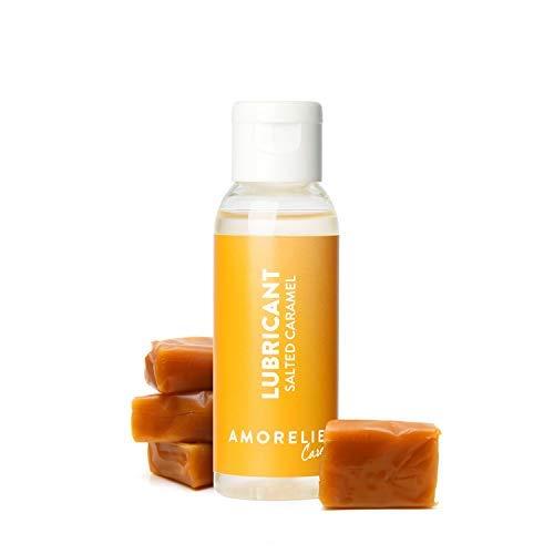 Amorelie Care Gleitgel auf Wasserbasis (50 ml) mit angenehmen Salted-Caramel-Geschmack – schonendes Gleitmittel für hohe Feuchtigkeit – optimale Gleitcreme für Oralverkehr – klebt nicht auf de