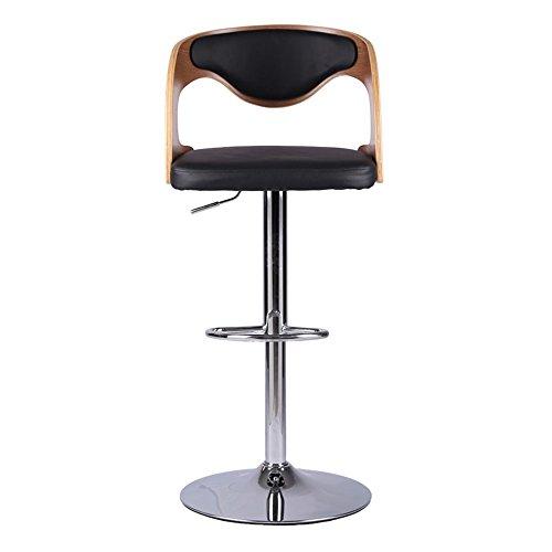 Stoff Akzent Möbel (Stilvolle Mode Stuhl Barhocker drehen / heben Stuhl Stoff Rückenlehne Holz Kunst hohe Hocker ( Farbe : B ))