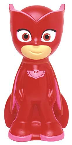 Lexibook Pyjamasques Veilleuse de Poche Owlette, LED pour chambre d'enfants, Format de poche, A piles, Rouge/Rose, NLJ001PJM2