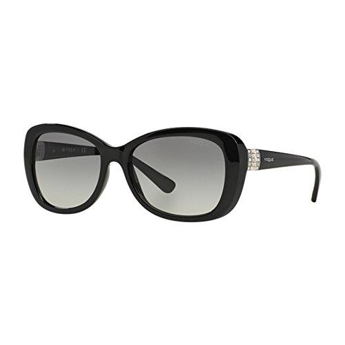 Vogue - vo 2943sb, geometrico, propionato, donna, black/grey shaded(w44/11 a), 55/17/135