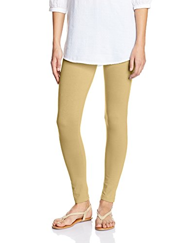 Myx Women's Cotton Stretch Leggings (AW16LEG01K_Beige_Small)