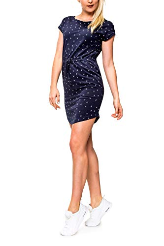 ONLY Damen Jerseykleid Freizeitkleid Sommerkleid Shirtkleid Print (XXL, Night Sky/Anchor/Style 2)