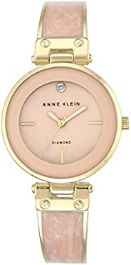 Anne Klein Women's Pink Dial Metal Band Watch - AK2512LPGB, Analog, Qu