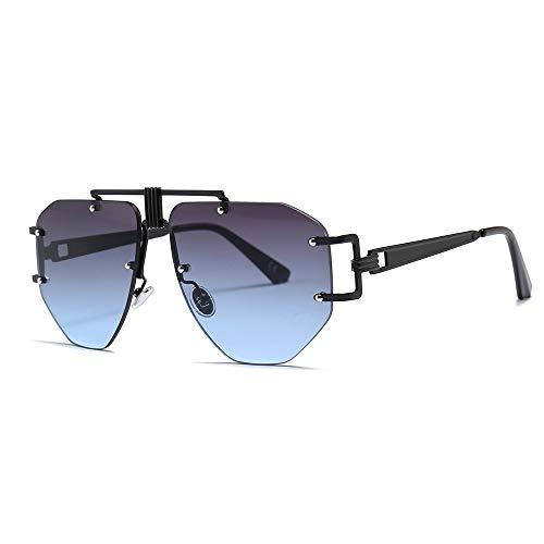 Yiph-Sunglass Sonnenbrillen Mode Randlose Sonnenbrille UV400 Spiegel Objektiv Moderne Mode Sonnenbrillen für Unisex (Farbe : C6, Größe : Free Size)