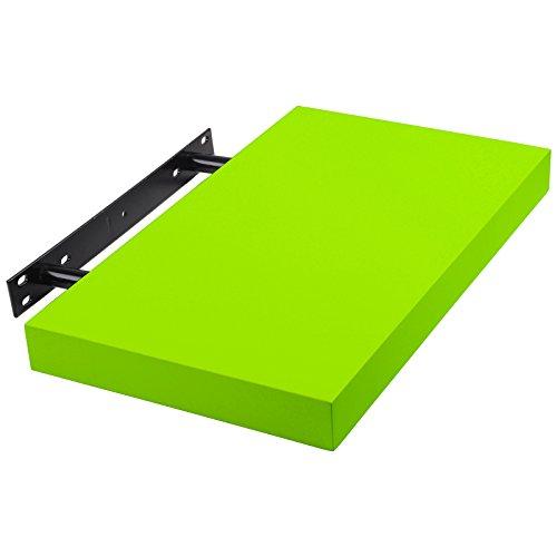 WOLTU RG9247gn-1-a Wandboard Wandregal CD DVD Bücherregal Regalsysteme, PU Lackiert, 40x22,9x3,8cm, grün Bücherregal Grün