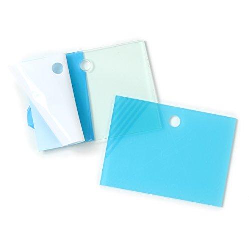 La cordeline CJN20F 2 Etiquettes Sachet Acrylique Translucide Vert S 9,5 x 7 cm