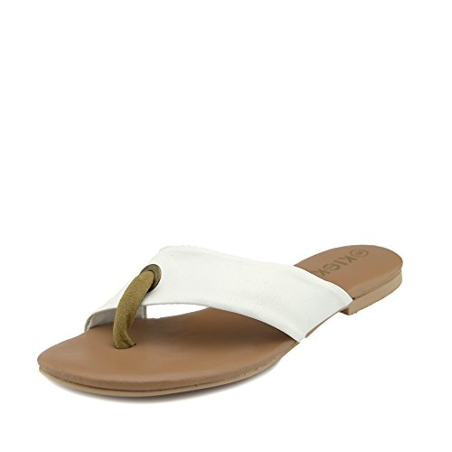 Kick Footwear Frauen-Sommer-Komfort-Sandalen aus Leder - UK 5/EU 38, Weiß