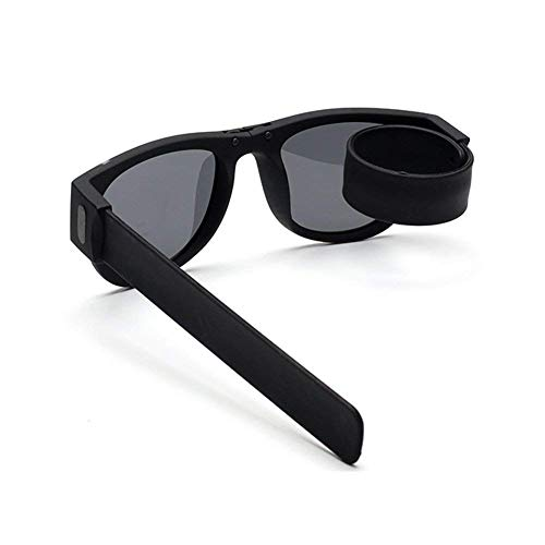 Faltbare Sport-Sonnenbrille-flexible Rahmen-Rolle Unisexsonnenbrille kann am Handgelenk / Fahrrad für Erwachsene und Kinder für Sport im Freien abgegriffen werden Radfahren oder antreibende Freizeit