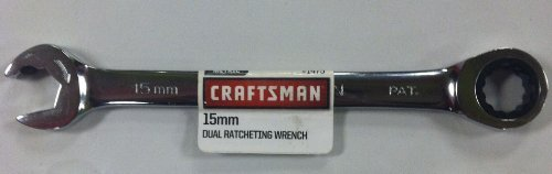 Craftsman 15mm Dual Ratcheting Combination Wrench 91475 1475 by Craftsman