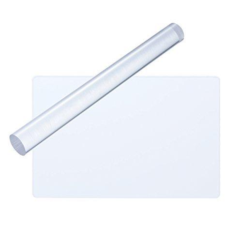 ROSENICE 2 stücke Acryl Ton Roller Rechteck Acryl Blatt Bord mit Grid Wesentliche Modellierung Ton Werkzeuge -