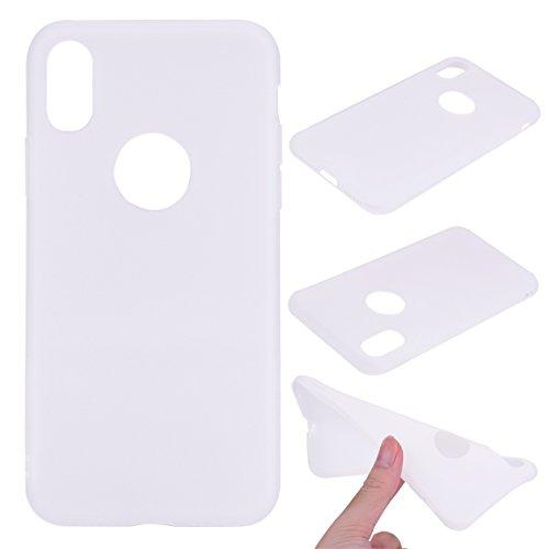 iPhone X Hülle, Voguecase [Shockproof] [Fallschutz] Rüstung Schutz Etui Soft TPU Silikon Stoßfeste Protective Cover Case für Apple iPhone X(Dunkelblau) + Gratis Universal Eingabestift Weiß