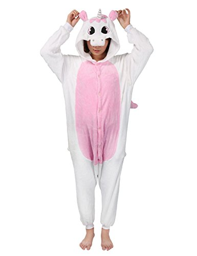 Très Chic Mailanda Unisexe Pikachu Kigurumi Cosplay Combinaison Pyjama ou Déguisement (Pikachu) (S, Licorne Rose)