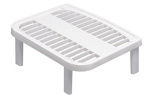 homeoutdoor® stapelbar Küche Schrank klein Organizer weiß/Mittelteil/Rack storemore & leicht finden, 25x 20x 9cm 20 Jar Spice Rack