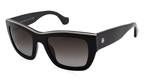 Balenciaga ba0059 5201b, occhiali da sole unisex-adulto, nero (schwarz), 50