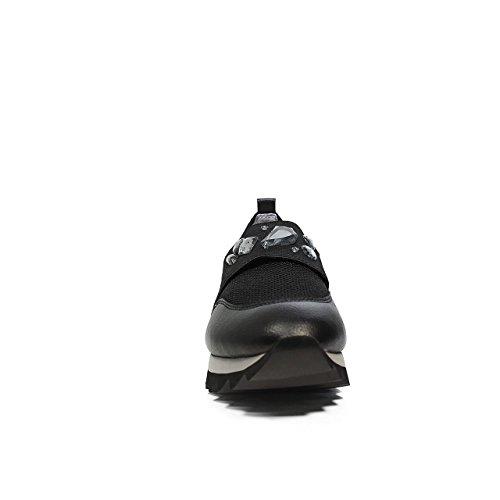 Apepazza DLY32 mocassino con fascia ricoperta di pietre in colore nero nuova collezione primavera estate 2017 Nero