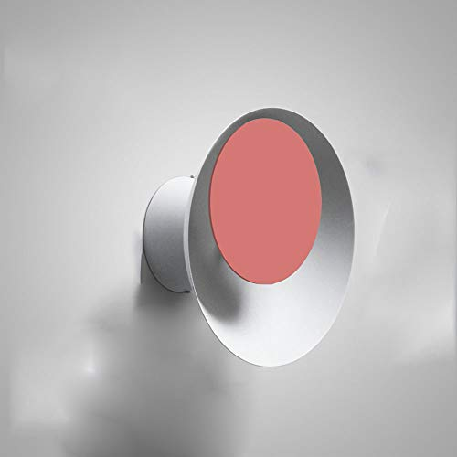 Nordique moderne rond lampe de salon créatif salon escalier allée chambre chevet macarons lampe de lumière de lune (Couleur : Rose)