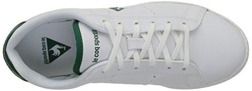 Le Coq Sportif Courtone Gs S, Baskets Basses mixte enfant Blanc (Optical White/Evergr)