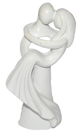 Unbekannt 3-D Figur Hochzeitspaar Modern 10 cm - Tischdeko zur Hochzeit Deko - Brautpaar z.B. für Torte Tortendeko Tortenfigur Figur Braut und Bräutigam