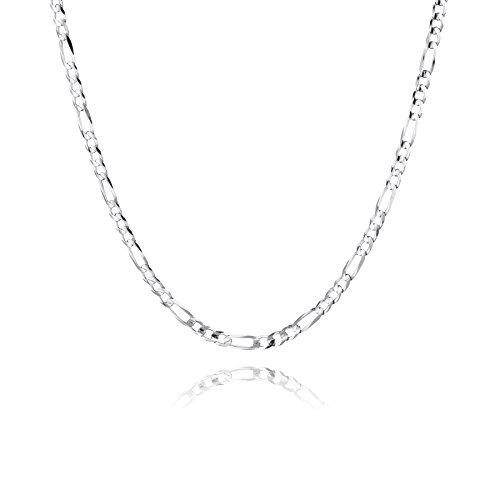 STERLL Herren Hals-Silberkette Sterling-Silber 925 55 cm Ohne Anhänger Geschenkbox Männer Geschenke