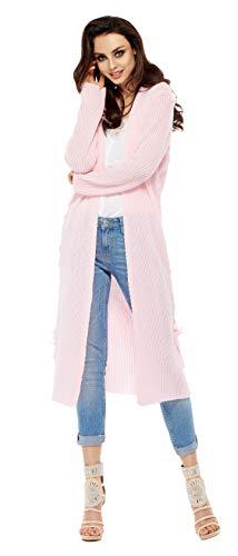 Lemoniade modische, Lange Strickjacke in ausgefallenem Design der angesagten Trendmarke, Modell 3 Rosa