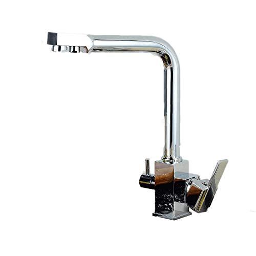 Moen Deck Mount (Wasserhahn-Küche Faucet Deck Mount Chrome Bad Wasserhahn Gefäß Spül-Armaturen-Tap Kalte Und Heiße Wasserhähne [Energieklasse A])