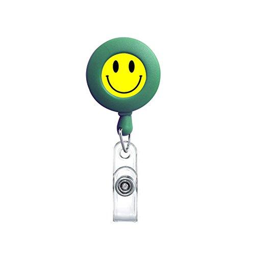 surlove Retractable Badge Reel Smile Muticolor Büro Badge Holder Gürtelclip Name, ID Card Inhaber grün (Halskette-card-inhaber)