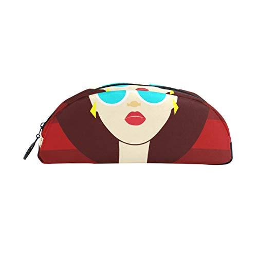 Pen Il Fall Brille Mädchen Mode Kühlen Federbeutel Veranstalter Federmäppchen Tasche Reißverschluss Für Studenten Klasse Kinder Jungen Mädchen Schule Bleistiftbeutel Frauen