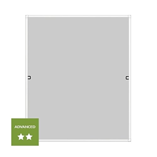 120x140cm Alu Fliegengitter Fenster Insektenschutz Fiberglas UV-Schutz Weiß