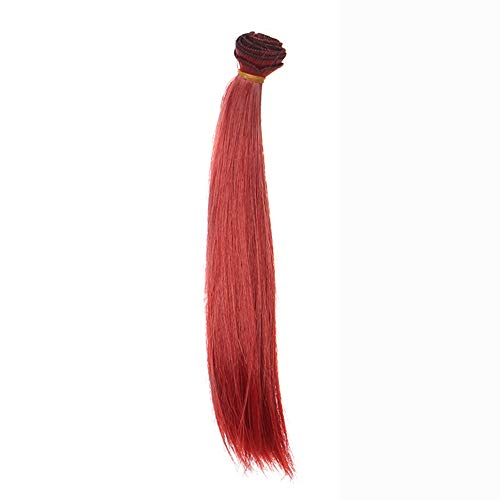 TianWlio Perücken Damen Mode 25 cm Großhandel Glattes Haar Haar DIY/BJD Perücke Puppe