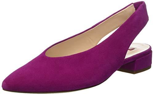 HÖGL Damen Easy Slingback Ballerinas, Rot (Fuchsia 42, 40 EU Fuchsia Damen Schuhe