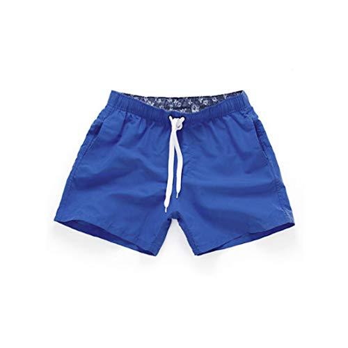 Huicai Männer Shorts Badehose Schnell trockene Surfhose mit Mesh-Futter Bademode (Mesh Shorts Blue Classic Royal)