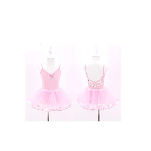 Sling Overall Kinder Tanzkleidung Baumwolle Mädchen Flauschigen Rock Tanzrock rosa Rock mit Einer Höhe von 130 cm (Trikots Turner)