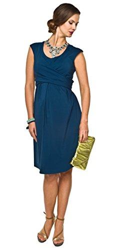 2in1 elegantes und bequemes Umstandskleid / Stillkleid, Modell: Zurina, indygo, L