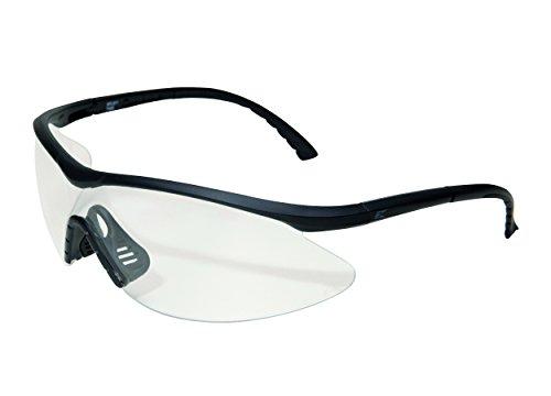 Edge Tactical Safety Eyewear, Fastlink, matt schwarz, antikratzbeschichtet, beschlagfrei Clear Vapor Shield Gläser -