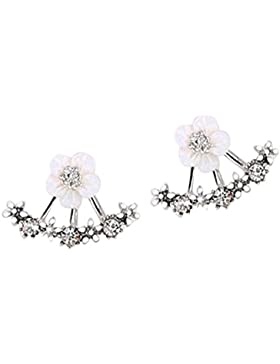 Women Fashion Classic Crystal Rhinestone Ear Stud Daisy Flower Earrings Gift