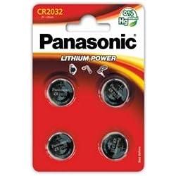 PANASONIC - 4 piles bouton CR2032