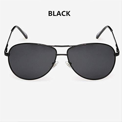MJDL Marke Polarisierte Sonnenbrille Männer Frauen Driving Driver Sonnenbrille Vintage Rechteck Anti-Uv-Brille Brillen Schwarz