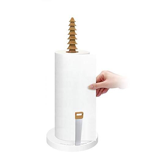 HHS Megan-HD Papierhalter Easy Roll Küchenarbeitsplatte Papierhandtuchhalter Vertikale Papierhandtuchhalter für das perfekte Zerreißen von Standard oder großen Rollen Rollenhalter - Standard Roll Top Schreibtisch
