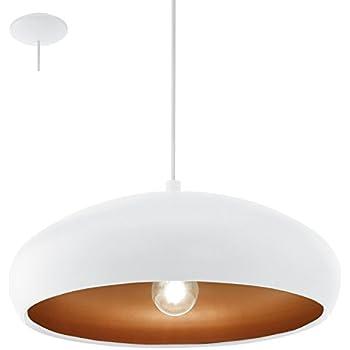 Lampe Suspension E27 Blanc 'Mogano 1'De Cuivre