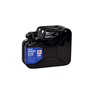 10L Steel Jerry Can Suitable for Fuel Diesel Petrol Metal UN Approved (Black)