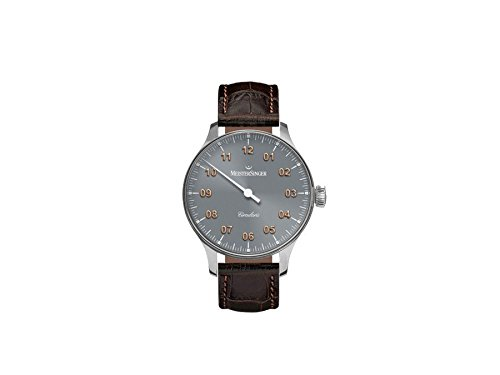 MEISTERSINGER MEN'S CIRCULARIS 43MM BROWN LEATHER BAND MECHANICAL WATCH CC307